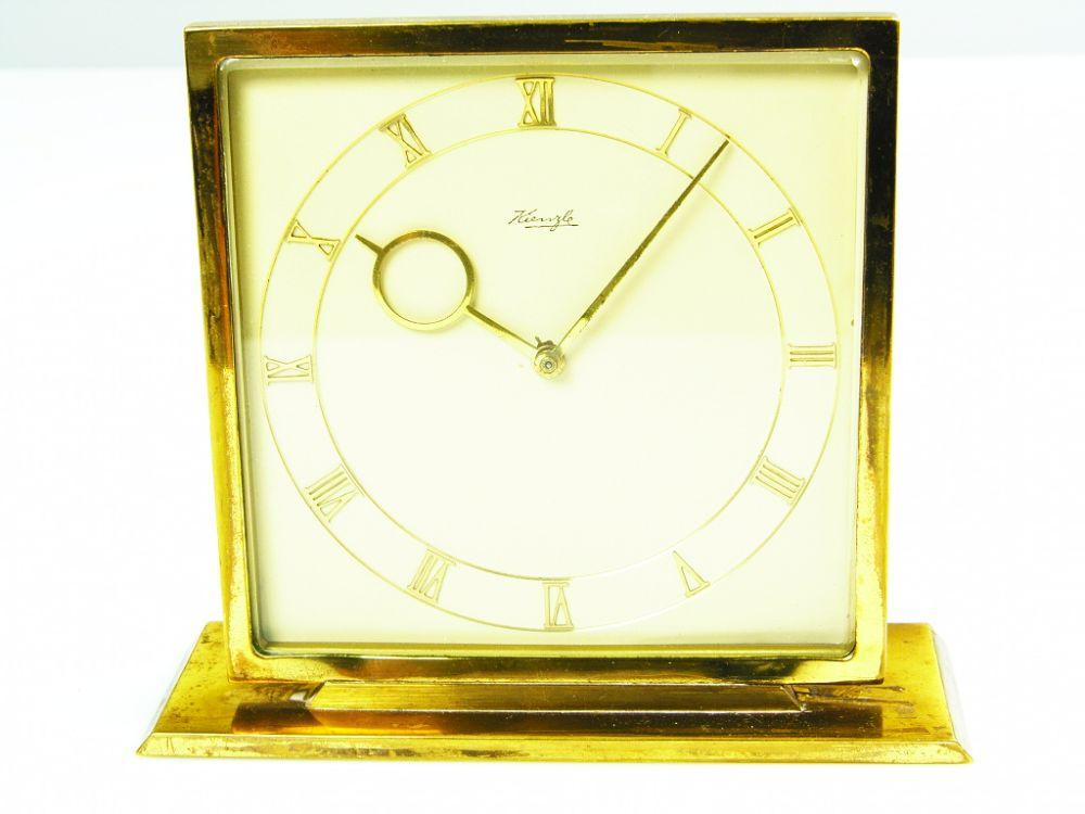 beautiful art deco bauhaus brass desk clock kienzle germany ebay. Black Bedroom Furniture Sets. Home Design Ideas