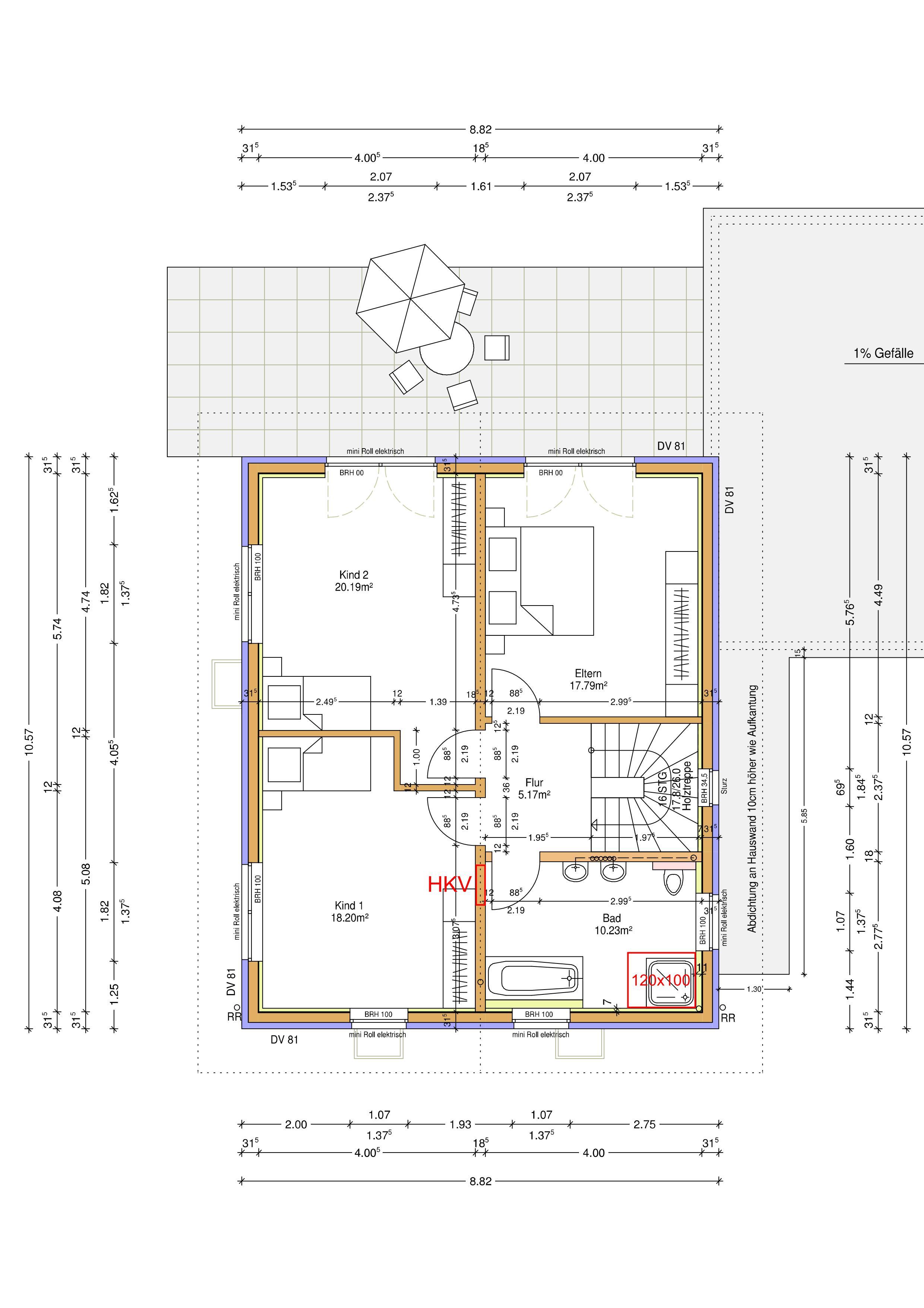 nach den ersten erkenntnissen mit inkscape werden die kreise im elternschlafzimmer mit va10 90m - Beliebt Burokuche Aufbau